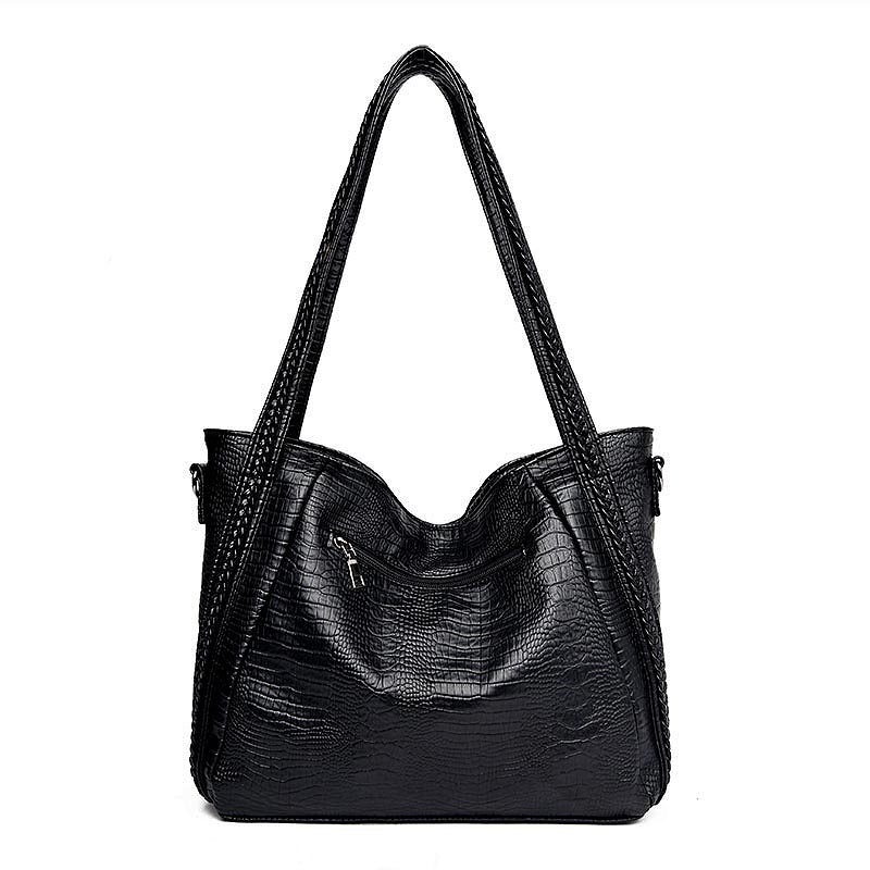 010-the-archetypal-bag-leather-croc-crossbody-bag-for-women-big-bag-zipper-black-leather-purse- (1)