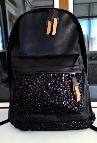 The Sequins Xxl Large Backpack Leather Sequin Laptop Big