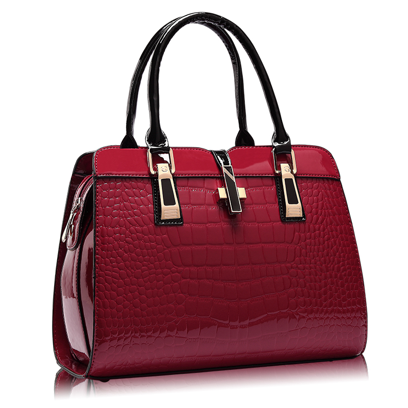 The Italian Croc Clutch Leather Hand Bag Handbags Clutches