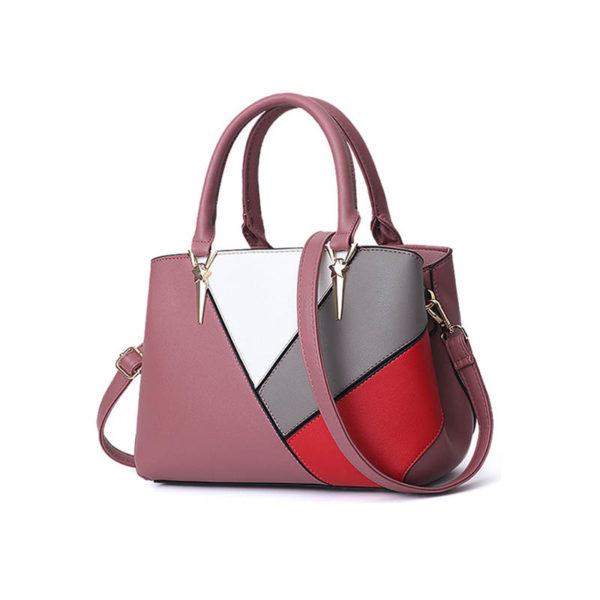 pink-leather-handbag-for-women-girls