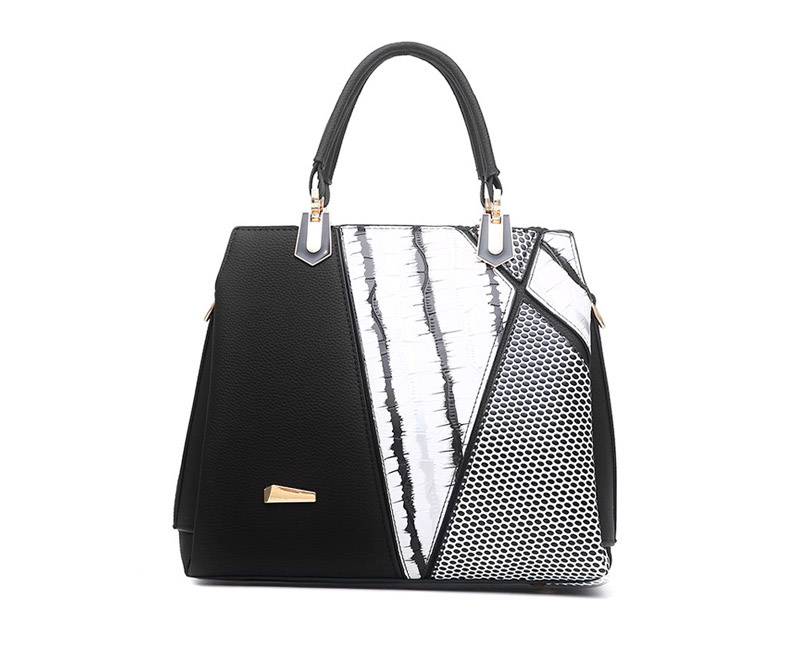 abb3d94eab9a The Ethereal | Tote Leather Bag Black&White | Crossbody Bag - Shoulder Bags  - Leather Totes