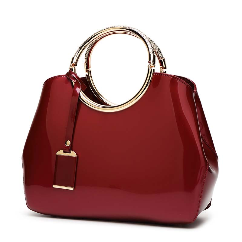 The-Circle-Bag-Clutch-Leather-HandBag-Crossbody-Leather-Bags-for-Women-Shoulder-bag-leather-with-circle-handle-zipper-WINE-RED-