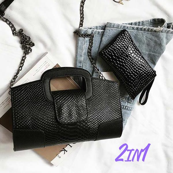 The Astonishing Leather Clutch Bag Crocodile Womens Evening Clutches Purse Wallet