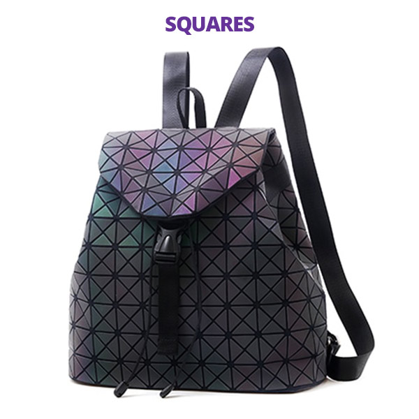 e068c12c5467 The Luminous Backpack | Reflective Geometric Backpack Glowing Diamond  Lattice Rainbow