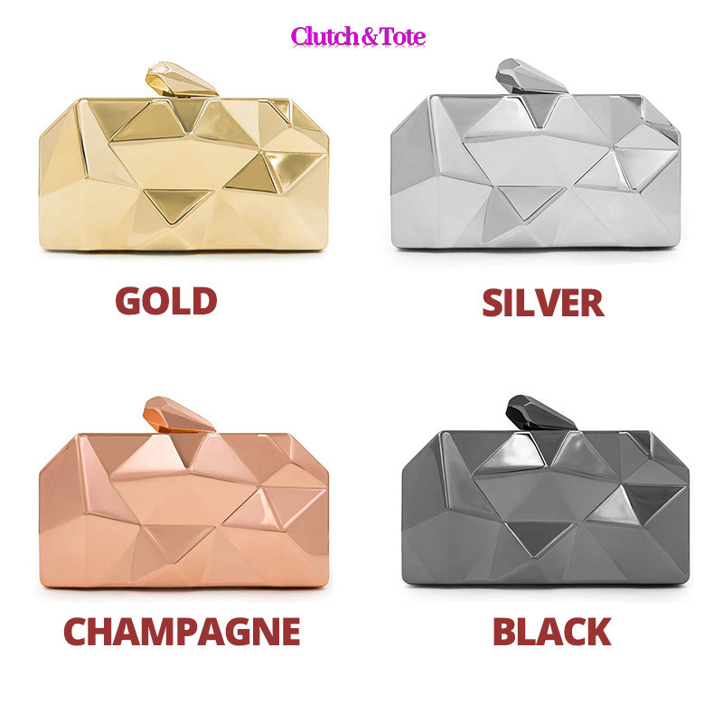 clutch-metallic-purse-bag-3d-metal-clutches-long-chain-womens-bags-for-weddings-proms-black-silver-gold-champagne-colors