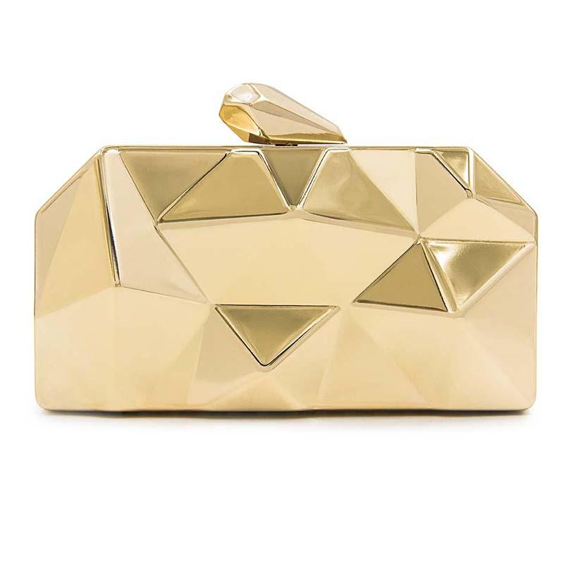 3d6bfa78cf1fa The Metallic Clutch Bag | Geometric HandBag 3D Metal Clutch Purse ...
