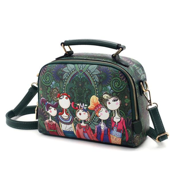 The-Ladies-Handbag -Leather-Purse-with-Abstract-Design-Cartoon-Crossbody-purse-Handbag-for-girls- (1)