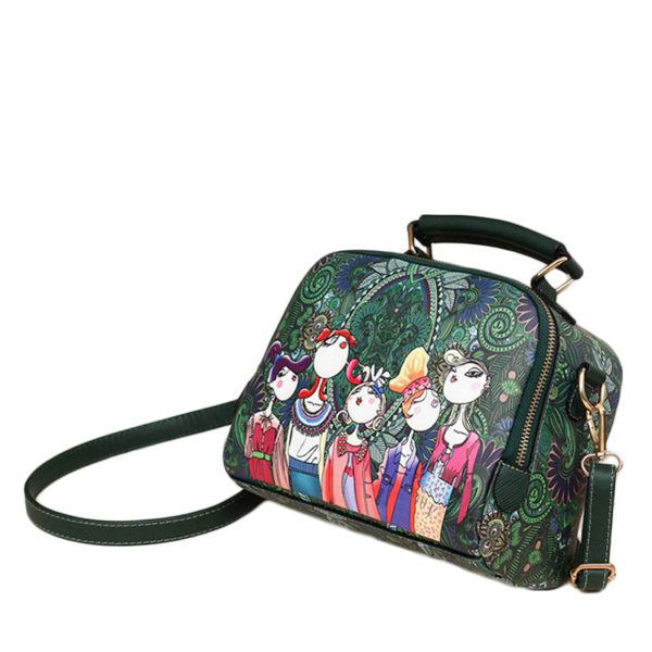 The-Ladies-Handbag -Leather-Purse-with-Abstract-Design-Cartoon-Crossbody-purse-Handbag-for-girls- (3)