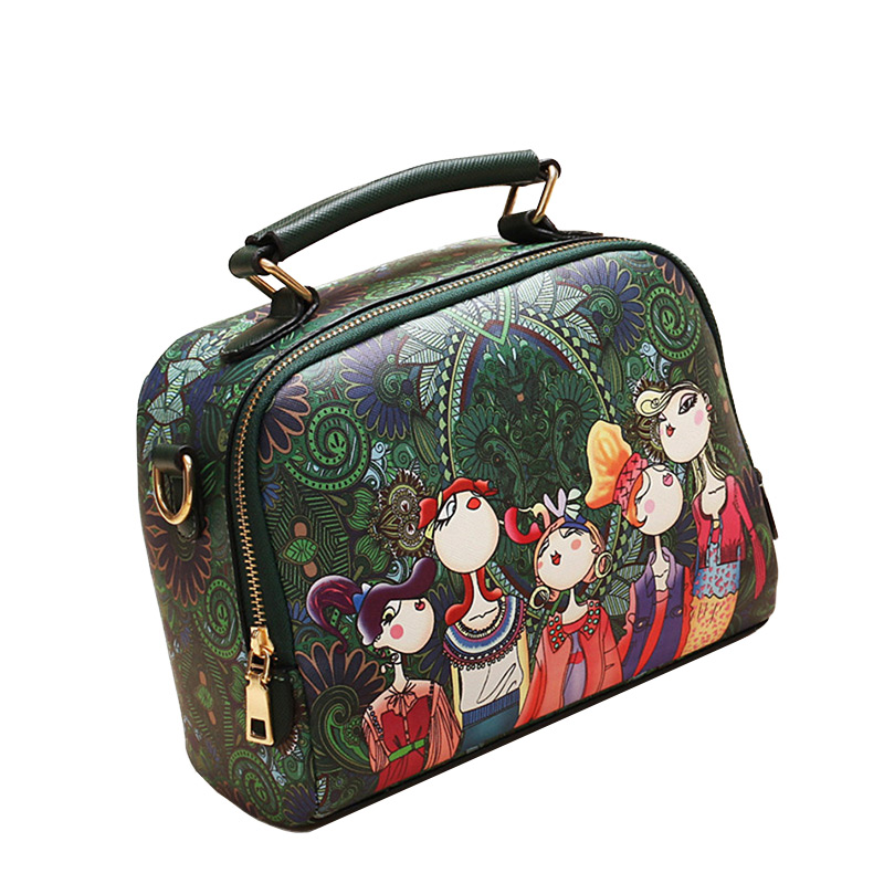 The-Ladies-Handbag -Leather-Purse-with-Abstract-Design-Cartoon-Crossbody-purse-Handbag-for-girls- (4)