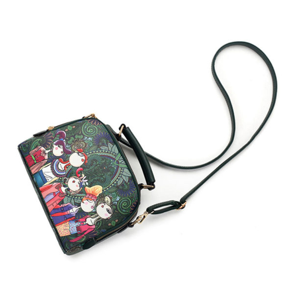 The-Ladies-Handbag -Leather-Purse-with-Abstract-Design-Cartoon-Crossbody-purse-Handbag-for-girls- (7)