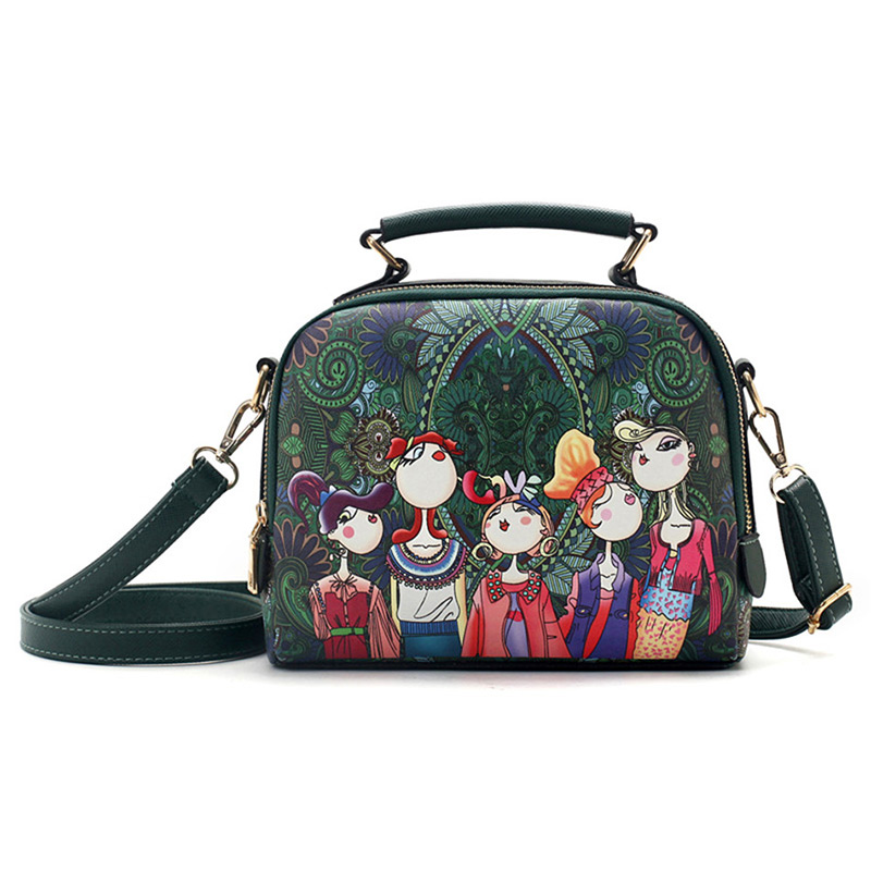 The-Ladies-Handbag -Leather-Purse-with-Abstract-Design-Cartoon-Crossbody-purse-Handbag-for-girls- (8)