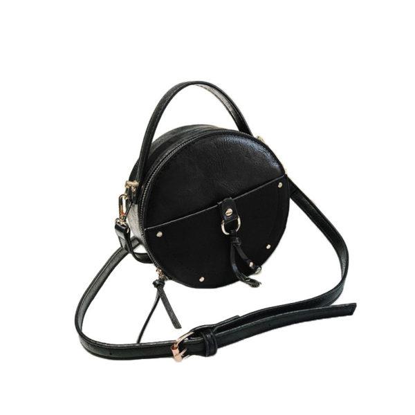 the-round-purse-leather-circle-bag-for-women-girls-circular-shape-bag-vintage-round-bag-black-color-