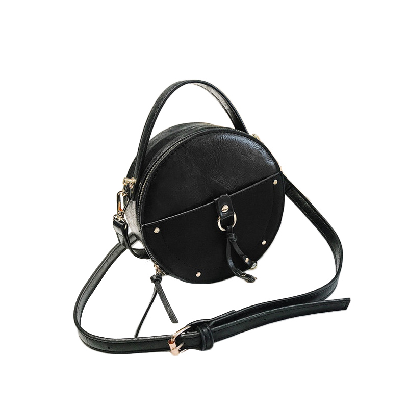 the-round-purse-leather-circle-bag-for-women-girls-circular-shape-bag-vintage-round-bag-black-color