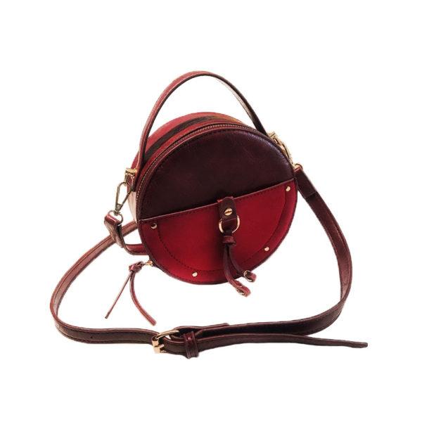 the-round-purse-leather-circle-bag-for-women-girls-circular-shape-bag-vintage-round-bag-burgundy-color-