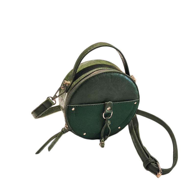 the-round-purse-leather-circle-bag-for-women-girls-circular-shape-bag-vintage-round-bag-green-color